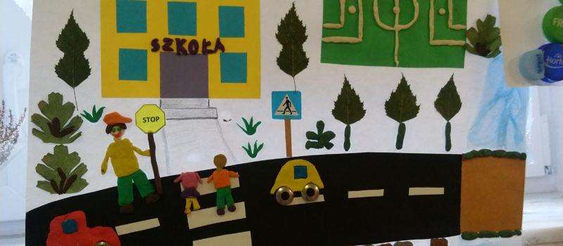 """Szkolny Konkurs Plastyczny pt.: ,,Bezpieczna droga do i ze szkoły"""""""