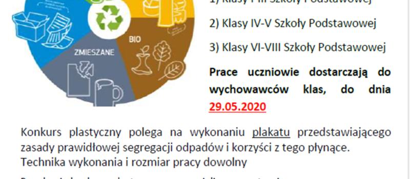 Zmiana terminu konkursu ekologicznego EKO-akcja segregacja!