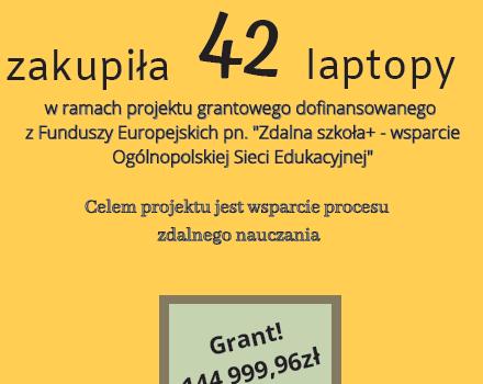 Gmina Łącko zakupiła laptopy do szkół