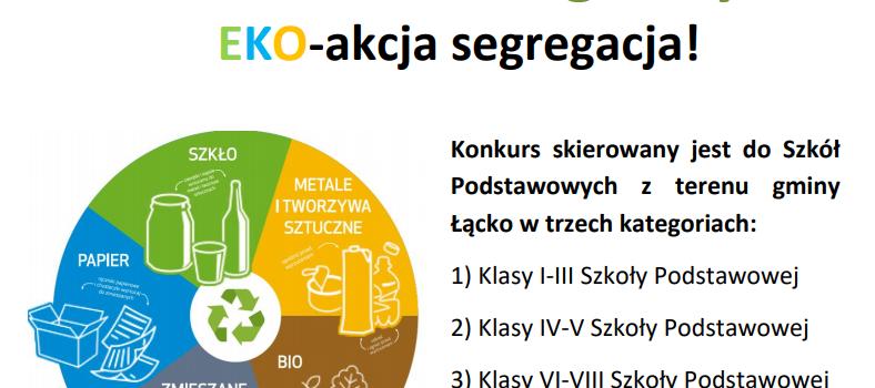 """Konkurs plastyczny pt. """"EKO – akcja segregacja!"""""""