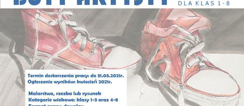 """Regulamin Szkolnego Konkursu Plastycznego: """"Buty Artysty"""""""