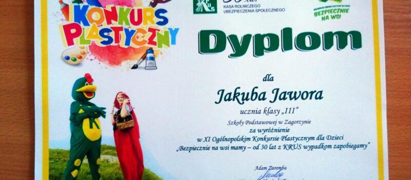 Kolejny sukces w konkursie plastycznym zorganizowanym przez KRUS